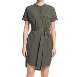 THEORY Stretch Cotton Cargo Dress In Army M